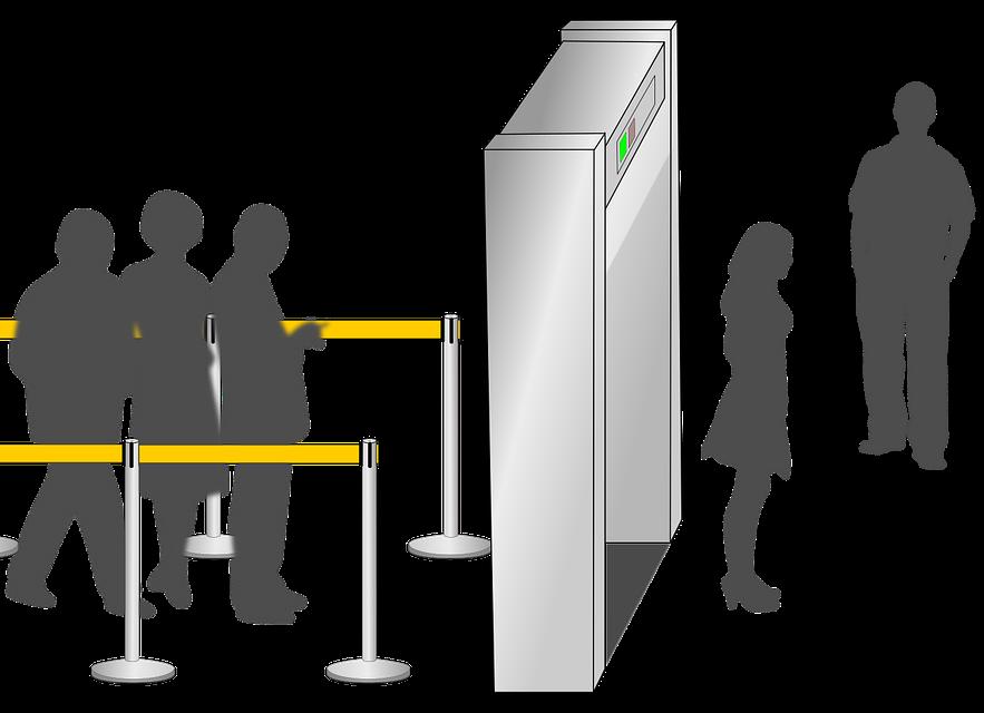 walking through security
